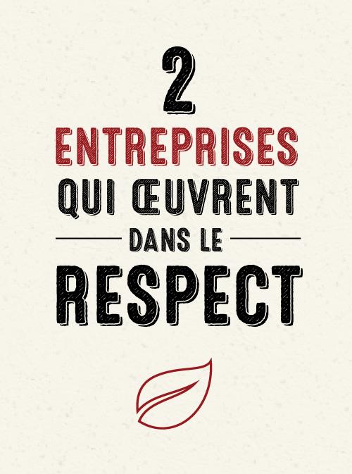 Deux entreprises qui œuvrent dans le respect